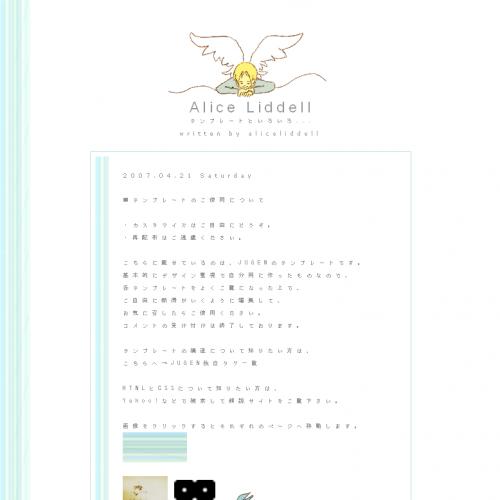 テンプレート「天使が見守る日記」