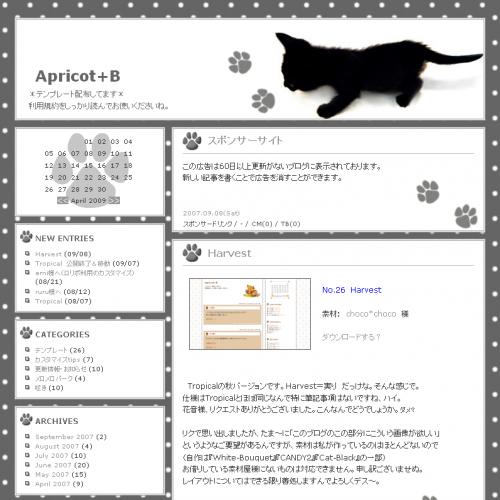 テンプレート「cat-black」