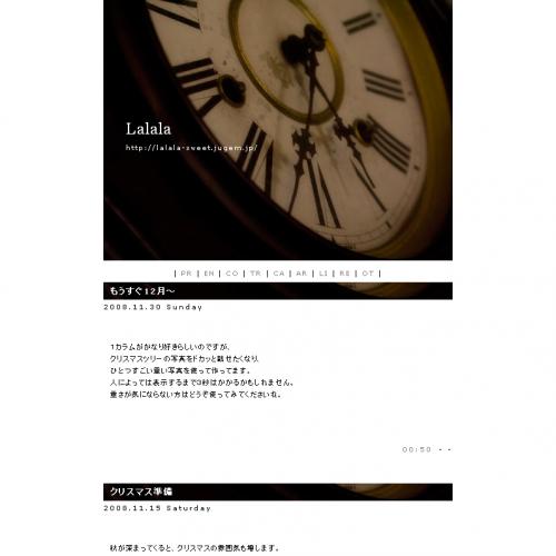 テンプレート「時計」