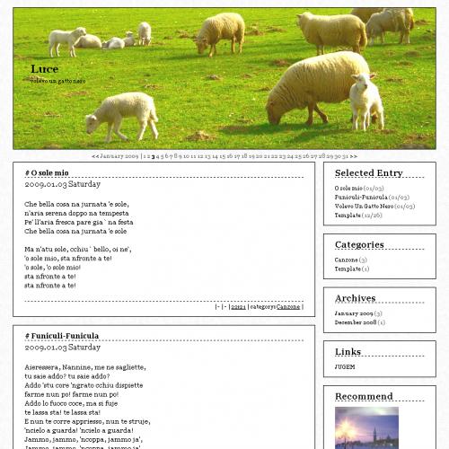 テンプレート「Sheep」
