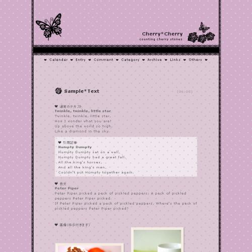 テンプレート「Butterfly(1c)」